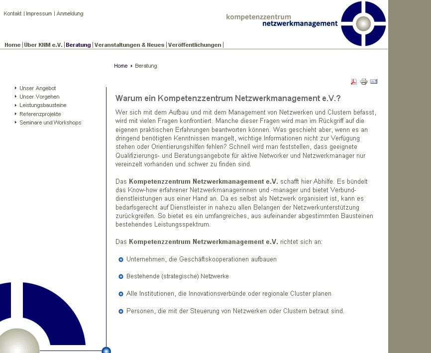 Kompetenzzentrumnetzwerkmanagement.de Beitragsseite