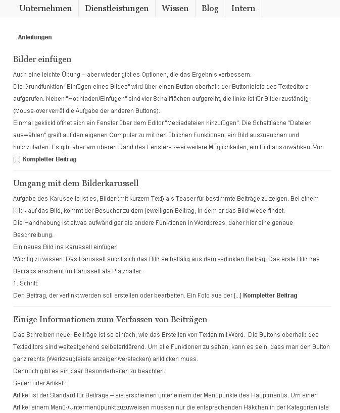 Viacon-Beratung.de interner Bereich mit Anleitungen