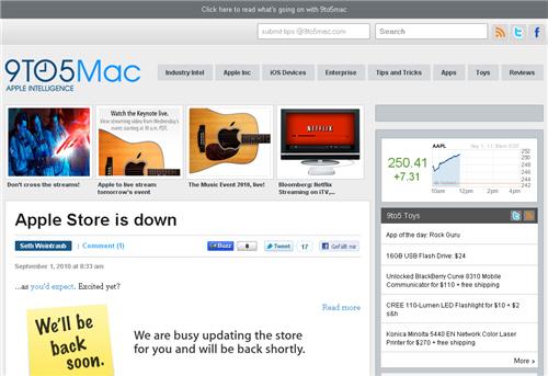 Screenshot von 9to5Mac.com